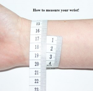 Measure your wrist to get your size.