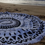 Gorgeous Black Beach Mandala Blanket.