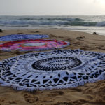 Black Blue and Pink Beach Blankets