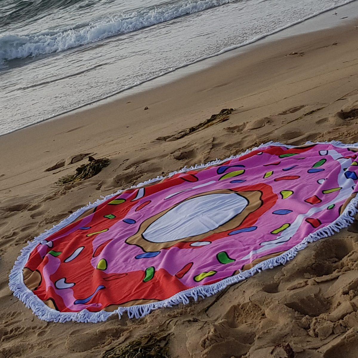 Pink Doughnut Beach Blanket 1