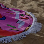 Pink Doughnut Beach Blanket 3