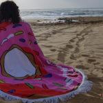 Pink Doughnut Beach Blanket 4