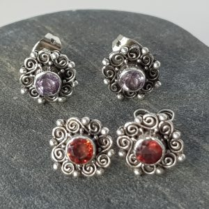Filigree Flower Stud Earrings