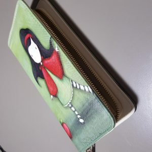 Cool Wallet designs Cartoon Girl with Red Cape (3)