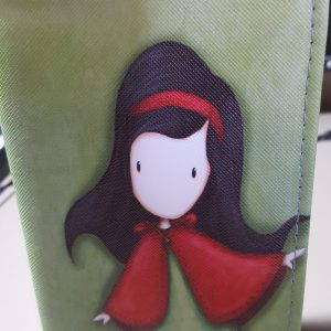 Cool Wallet designs Cartoon Girl with Red Cape (1)