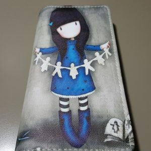 Cute wallet for teens, girl with paper doll daisy chain (2)