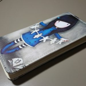 Cute wallet for teens, girl with paper doll daisy chain (1)