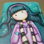 Cartoon girl headphones, coolwallets for girls(2)