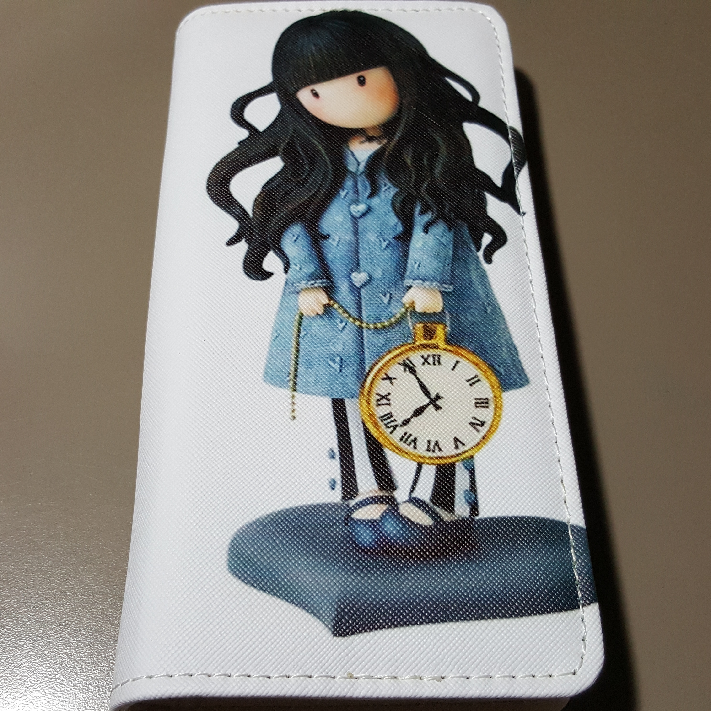 Ladies clutch wallet purse Girl with pocketwatch ladies clutch wallet purse (3)