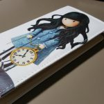 Girl with pocketwatch ladies clutch wallet purse (1)