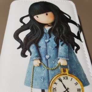 Girl with pocketwatch ladies clutch wallet purse (2)