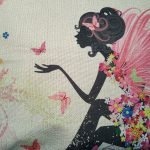 Cute Cushion Cover, Girl with pink fairy wings (2)