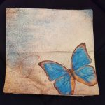 Living room pillow case butterfly series (5)
