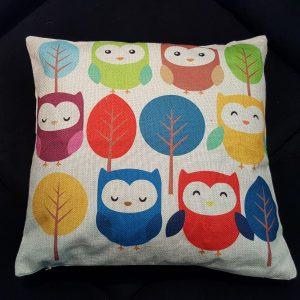 Cushion Pillow Design Owl Family 3