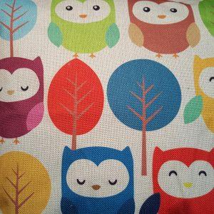 Cushion Pillow Design Owl Family 2