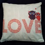 Cushion Pillow Design Owl Love 3