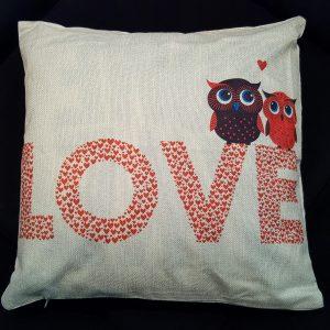 Cushion Pillow Design Owl Love 3