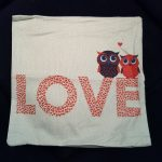 Cushion Pillow Design Owl Love 1