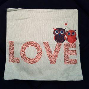 Cushion Pillow Design Owl Love 1