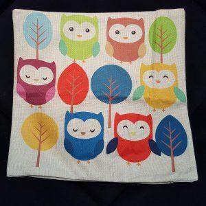 Cushion Pillow Design Owl Family 1