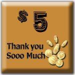 $5 Thank you Sooo Much